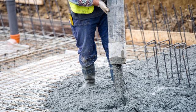 Základové desky, vylití betonu